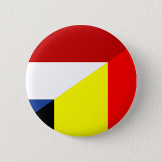 netherland belgium flag half country flag 6 cm round badge