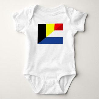 netherland belgium flag half country flag baby bodysuit