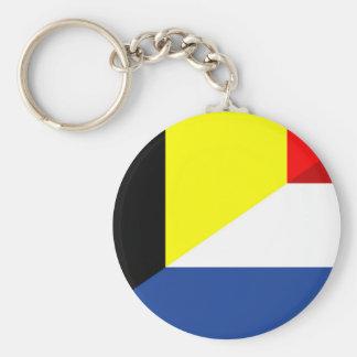 netherland belgium flag half country flag key ring