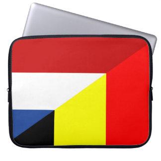 netherland belgium flag half country flag laptop sleeve