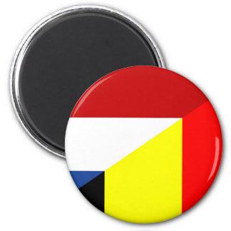 netherland belgium flag half country flag magnet