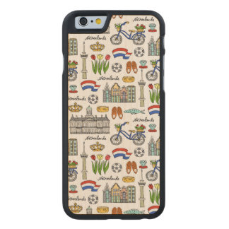 Netherland Doodle Pattern Carved Maple iPhone 6 Case