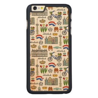 Netherland Doodle Pattern Carved Maple iPhone 6 Plus Case