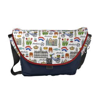 Netherland Doodle Pattern Commuter Bag