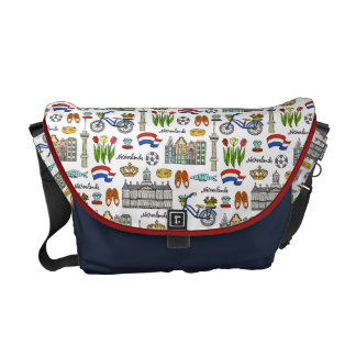 Netherland Doodle Pattern Courier Bags