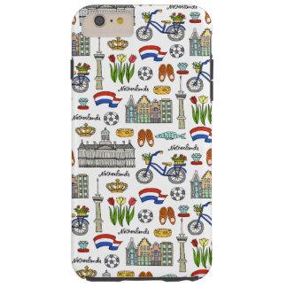 Netherland Doodle Pattern Tough iPhone 6 Plus Case