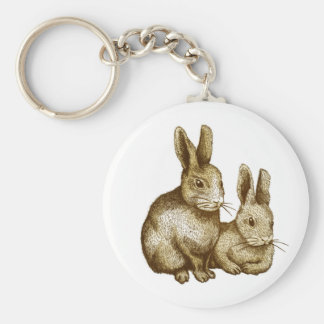 Netherland Dwarf: Rabbit Basic Round Button Key Ring