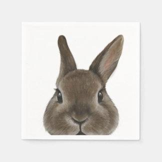 Netherland Dwarf rabbit by miart Paper Napkin