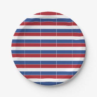 Netherland Holland Patriotic Pattern Paper Plate