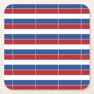 Netherland Holland Patriotic Pattern Square Paper Coaster