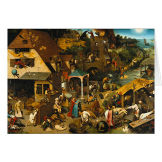 Netherlandish Proverbs by Pieter Bruegel the Elder Card