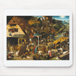 Netherlandish Proverbs by Pieter Bruegel the Elder Mouse Pad
