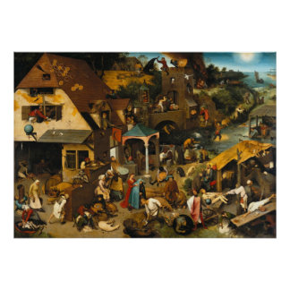 Netherlandish Proverbs Pieter Bruegel Poster