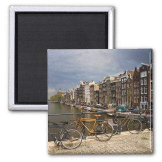 Netherlands, Amsterdam. View of canal from Square Magnet