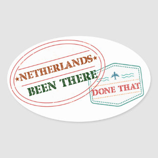 Netherlands Antilles Been There Done That Oval Sticker