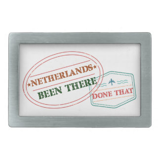 Netherlands Antilles Been There Done That Rectangular Belt Buckle