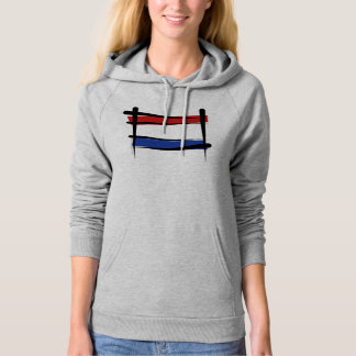 Netherlands Brush Flag Hoodie