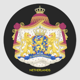 Netherlands Coat of Arms Classic Sticker