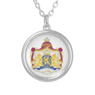 Netherlands Coat of arms Silver Plated Necklace