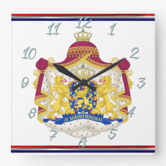 Netherlands Coat of arms Square Wall Clock