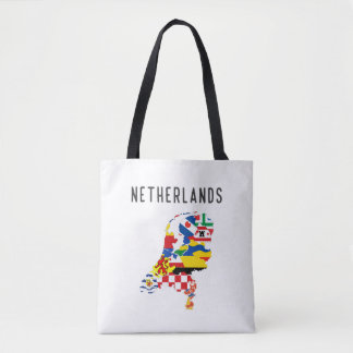 Netherlands country regions province flag map symb tote bag