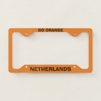 Netherlands Custom Orange License Plate Frame