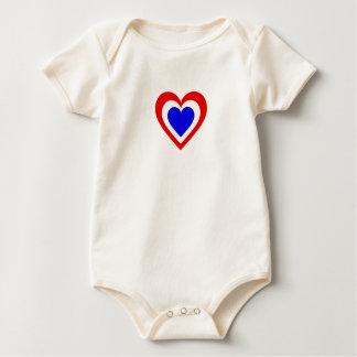 Netherlands/Dutch Flag-Inspired Hearts Baby Bodysuit