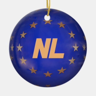 Netherlands E.U. Flag Custom Christmas Ornament