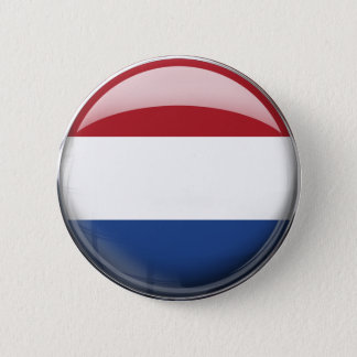 Netherlands Flag 6 Cm Round Badge