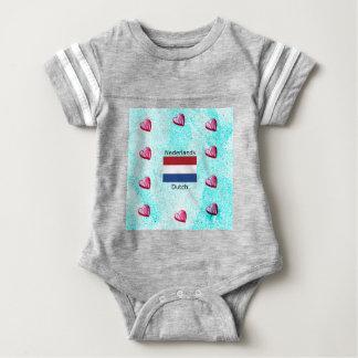 Netherlands Flag And Dutch Language Design Baby Bodysuit