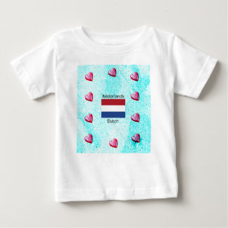 Netherlands Flag And Dutch Language Design Baby T-Shirt