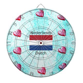 Netherlands Flag And Dutch Language Design Dartboard