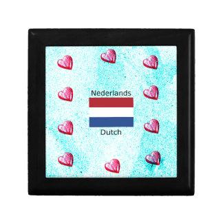 Netherlands Flag And Dutch Language Design Gift Box