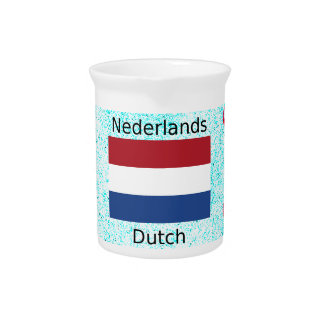 Netherlands Flag And Dutch Language Design Pitcher