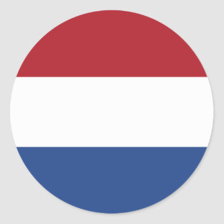 Netherlands Flag Classic Round Sticker