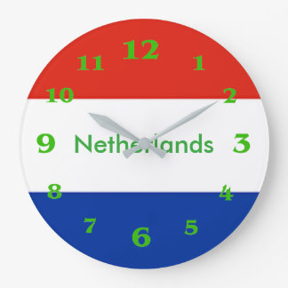 Netherlands flag for Round-Large-Wall-Clock Large Clock