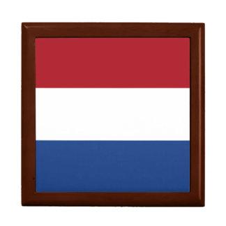 Netherlands Flag Large Square Gift Box