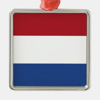 Netherlands Flag Metal Ornament