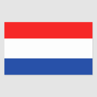 Netherlands flag rectangular sticker