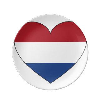Netherlands Flag Simple Plate