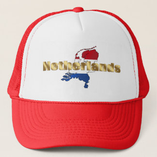 Netherlands (Holland) Dutch flag log gear Trucker Hat