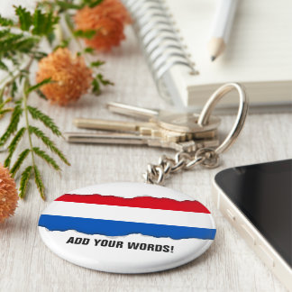 Netherlands Holland Flag Key Ring
