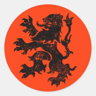 Netherlands Lion Round Sticker