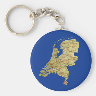 Netherlands Map Keychain