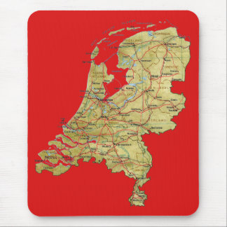 Netherlands Map Mousepad