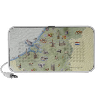 Netherlands map showing distinguishing features iPod speakers