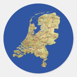 Netherlands Map Sticker