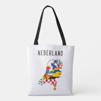 Netherlands nederland name text country regions pr tote bag