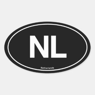 Netherlands Oval Oval Sticker