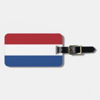 Netherlands Plain Flag Luggage Tag